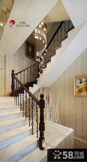 现代别墅楼梯装修效果图大全