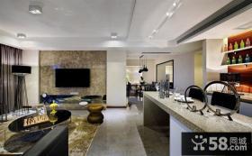 现代装修风格复式户型室内效果图大全