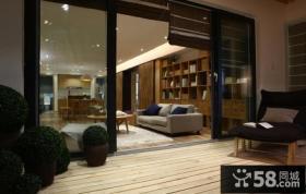 简约风格室外阳台设计效果图