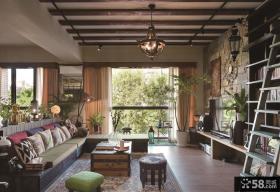 美式乡村风格设计别墅室内效果图片