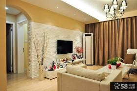 地中海风格一室一厅样板房客厅装修效果图