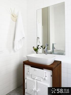 简约风格淋浴房整体浴室柜效果图