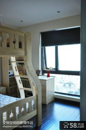 现代简约儿童房阳台装修图