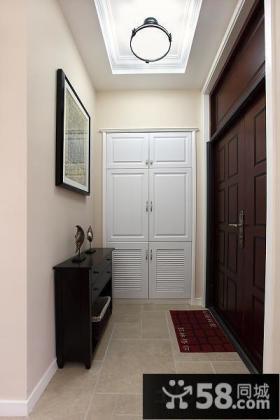 家庭进门玄关鞋柜装饰效果图片