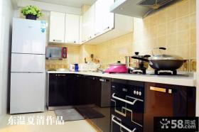L型现代整体厨房装修效果图
