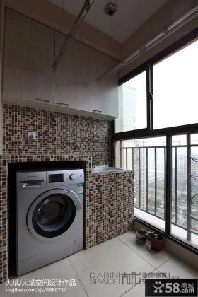 阳台洗衣房设计效果图