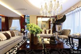 美式新古典风格四居装修效果图大全