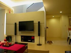 复式装修现代风格电视背景墙设计