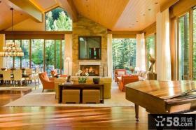 美式农村别墅图片大全 浪漫的客厅装修效果图大全2014图片