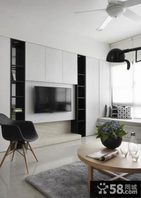 时尚简约住房客厅电视背景墙设计