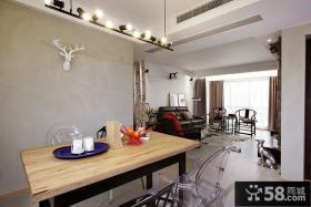 现代北欧风格两室两厅装修效果图