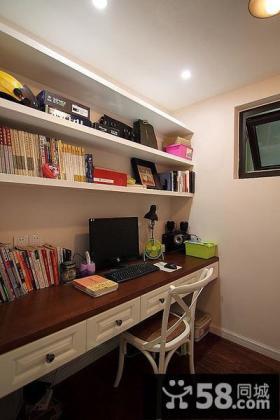 现代美式家居书房装潢
