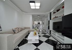 简约设计客厅吊顶图