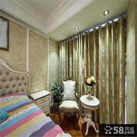 欧式卧室窗帘图
