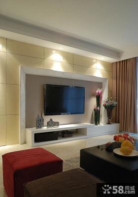 新现代简约电视背景墙装修效果图大全
