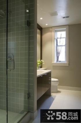 80平小户型室内卫生间装修效果图大全2012图片