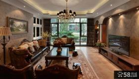 美式乡村风格客厅装修图欣赏