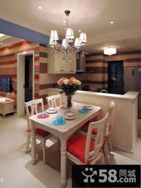 现代简约家庭餐厅装饰设计效果图