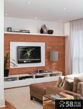 美式客厅电视背景墙设计欣赏