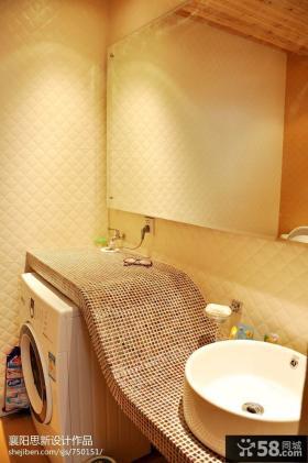 洗手台马赛克瓷砖台面效果图