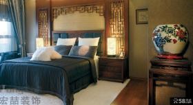 中式古典装修风格卧室效果图