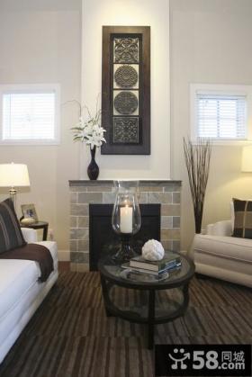 简欧风格客厅背景墙茶几装修效果图大全2012图片
