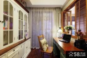 优质美式风格书房装修图片