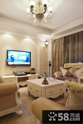 欧式小客厅电视背景墙效果图大全
