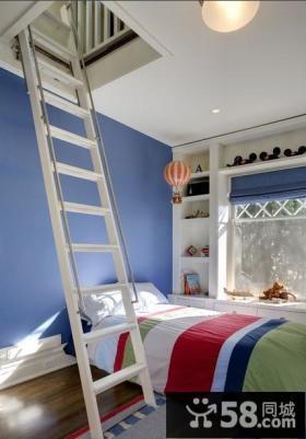 2013阁楼卧室楼梯装修效果图欣赏