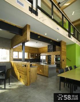 现代美式风格家具过道装修效果图