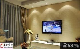 简约客厅电视墙效果图欣赏