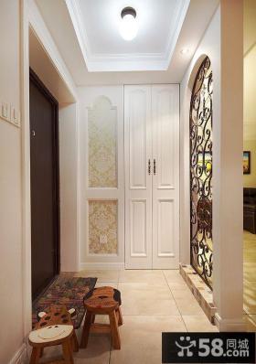 进门欧式玄关柜隔断设计