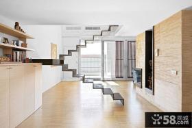 北欧别墅简易楼梯装修效果图
