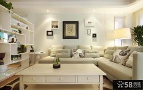 现代简约客厅沙发背景墙效果图