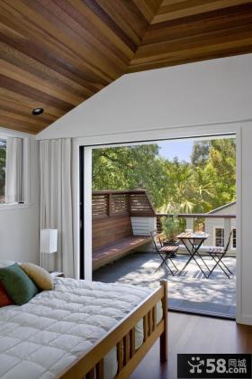 带阳台的卧室装修效果图