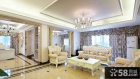 欧式风格两室两厅装修样板间