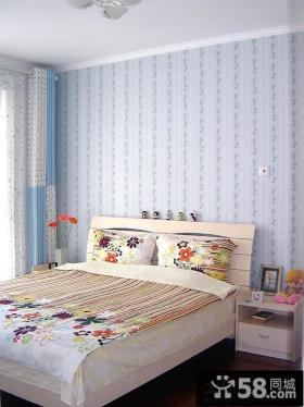 简约小户型卧室墙纸效果图片