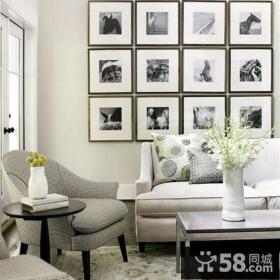 现代清新的复式楼客厅背景墙装修效果图大全2014图片