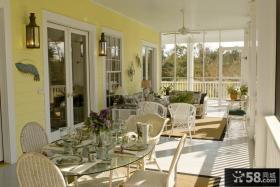 阳台装修效果图大全2012图片 开放式客厅阳台装修效果图