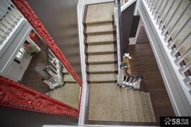 欧式别墅楼梯间设计效果图