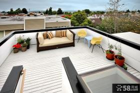 楼顶开放式阳台护栏装修效果图