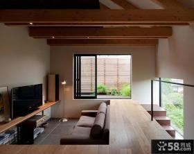 日式小复式阁楼客厅装修设计