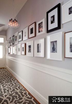 简约风格两室两厅玄关过道装修效果图