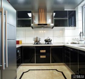 简约厨房烤漆橱柜装修效果图