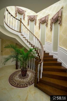 欧式风格家庭装修室内楼梯效果图