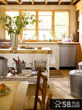 欧式开放式厨房装修效果图大全图片
