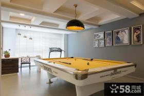 现代复式室内台球桌图片