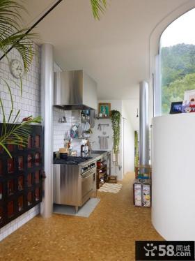 波托菲诺香山里二田园风格别墅厨房装修效果图2014优质案例