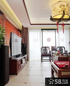 中式客厅玄关装修设计效果图