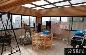 封闭式大阳台装修效果图大全2013图片